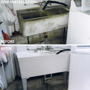 Sink Installation - Before After