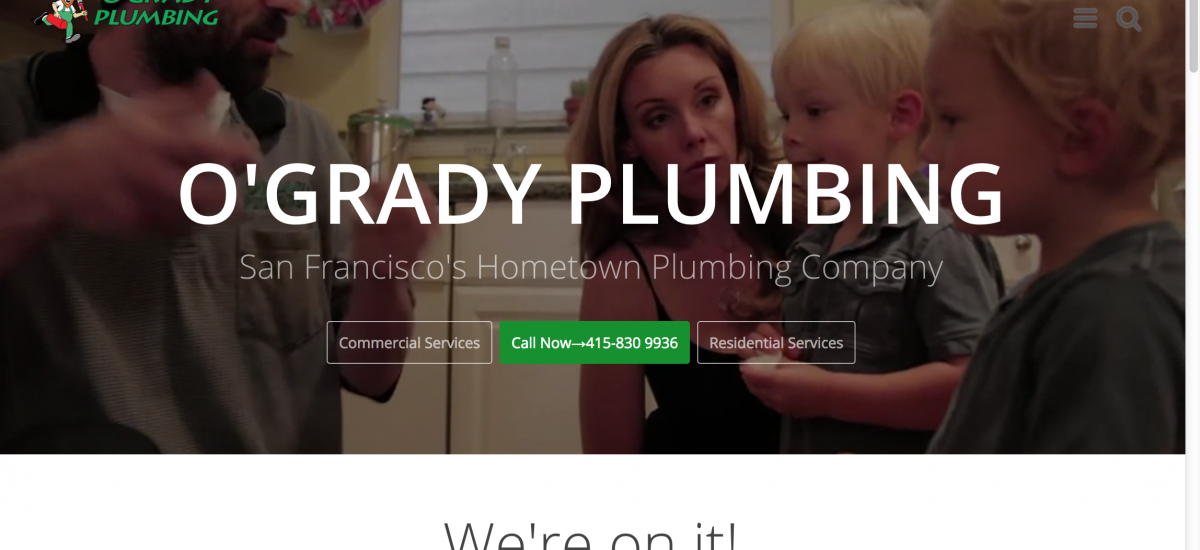 O'Grady Plumbing Launches New, Improved Website